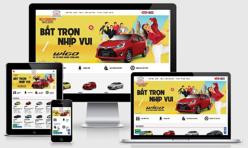 Mẫu website bán xe Toyota