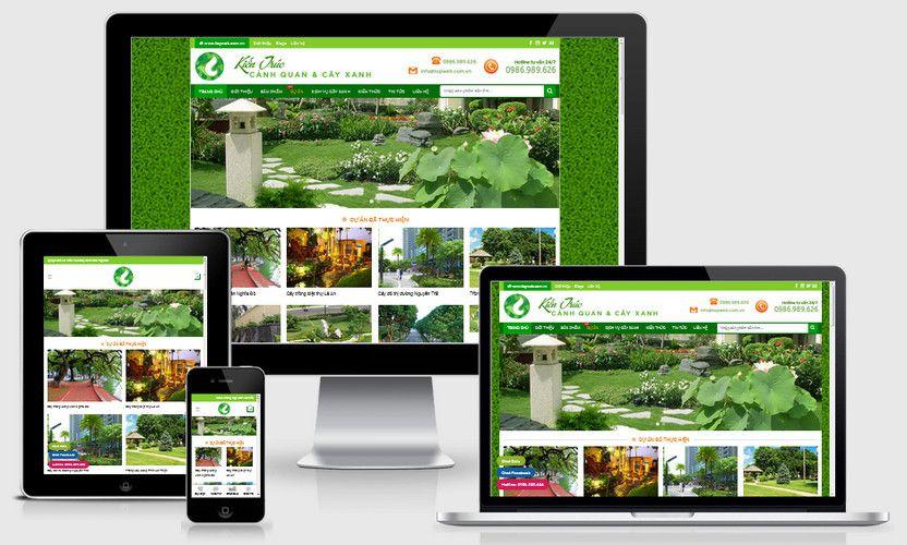 Mẫu website bán cây xanh cây cảnh