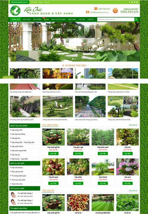 Mẫu website bán cây xanh cây cảnh 2
