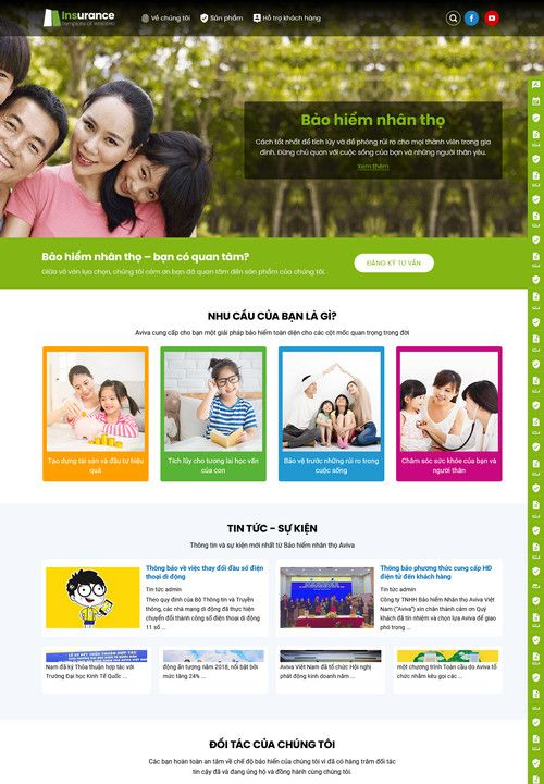 Mẫu website dịch vụ bảo hiểm 3