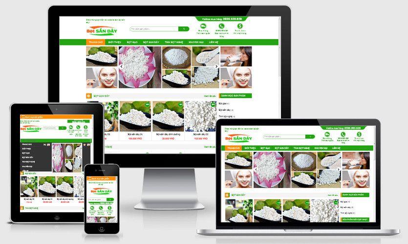 Mẫu website bán bột sắn dây