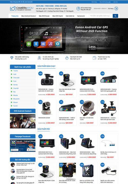 Mẫu website bán hàng Camera 1