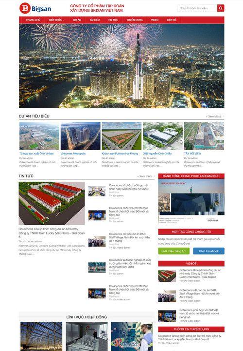 Mẫu website giới thiệu công ty cổ phẩn 3