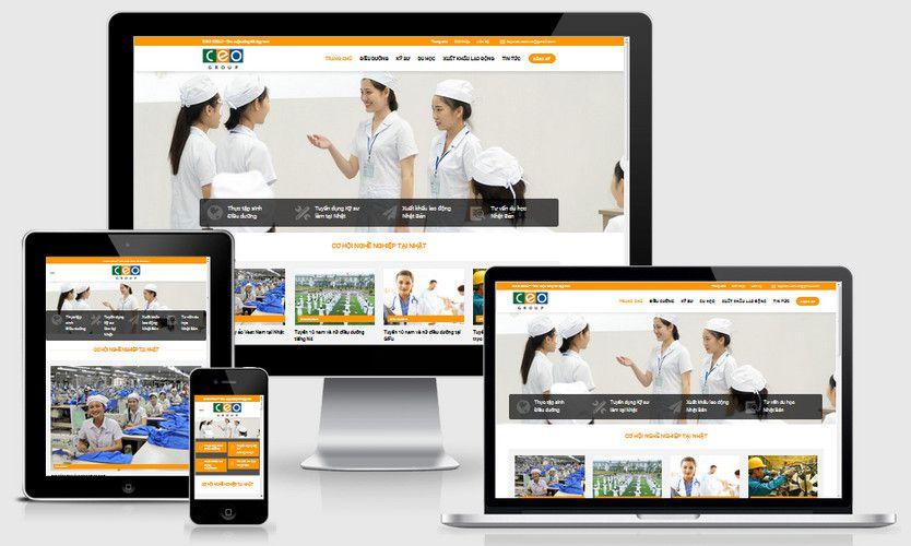 Mẫu website công ty xuất khẩu lao động