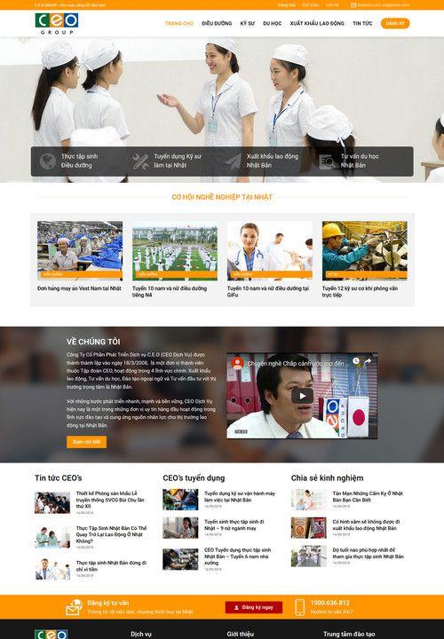 Mẫu website công ty xuất khẩu lao động 9