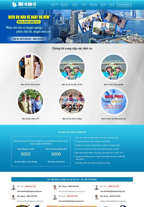 Mẫu website công ty dịch vụ bảo vệ 7