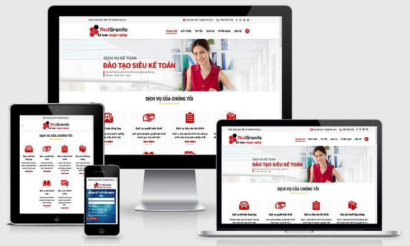 Mẫu website công ty dịch vụ kế toán