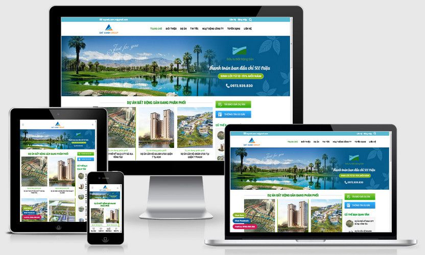 Mẫu website bất động sản căn hộ
