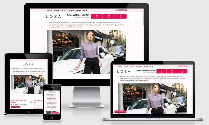Mẫu landing page bán hàng thời trang