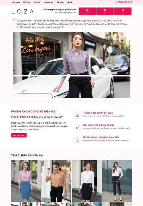 Mẫu landing page bán hàng thời trang 3