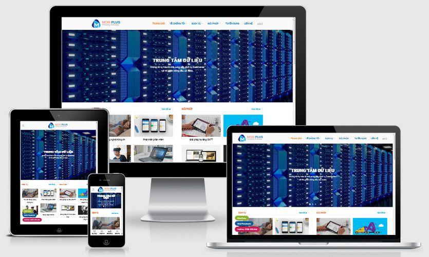 Mẫu website công ty công nghệ