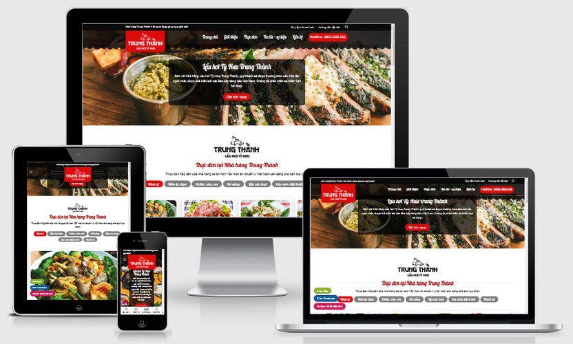Mẫu website nhà hàng lẩu hơi