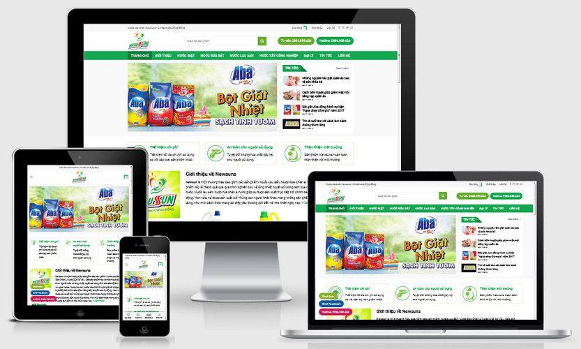 Mẫu website bán nước tẩy rửa bột giặt