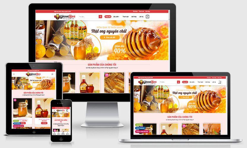 Mẫu website bán mật ong nguyên chất