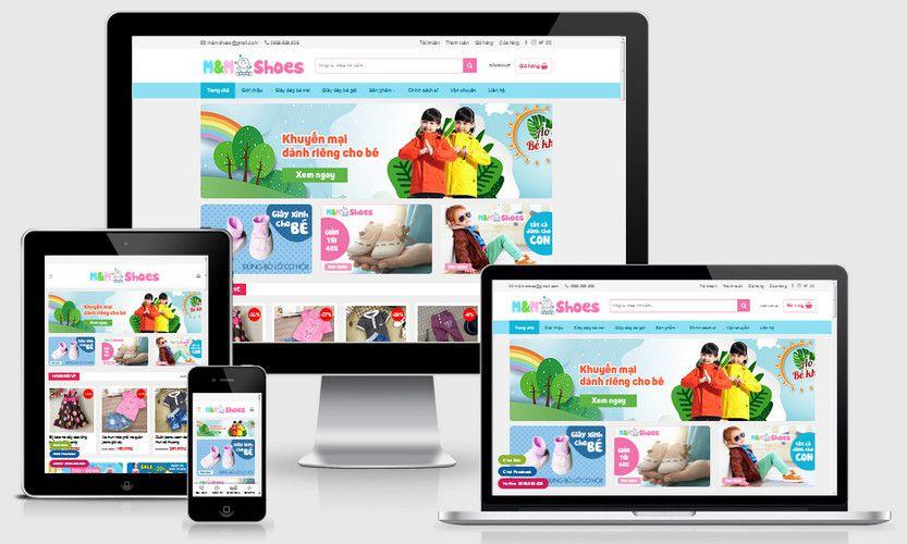 Mẫu website bán hàng thời trang trẻ em