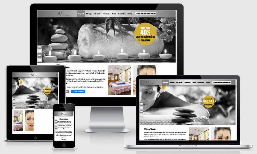Mẫu website thẩm mỹ viện spa đẹp