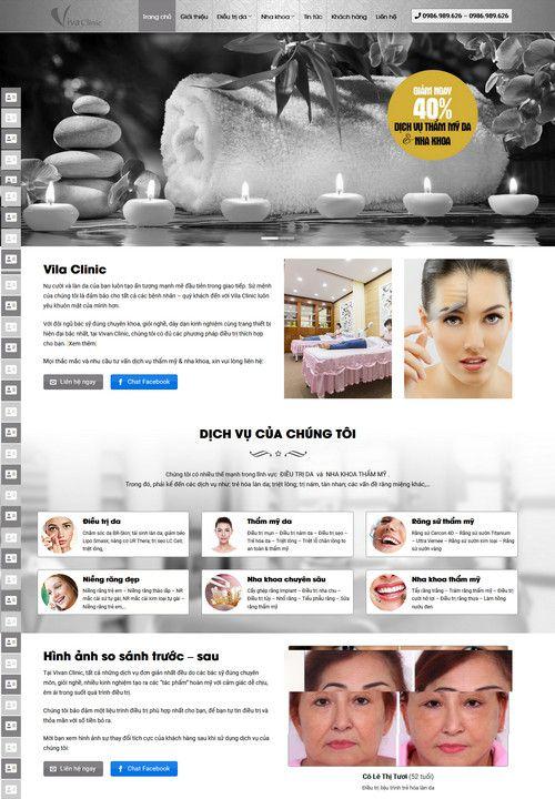 Mẫu website thẩm mỹ viện spa đẹp 4