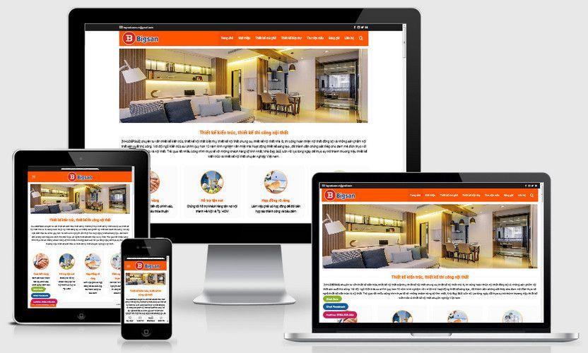 Mẫu website công ty thiết kế nội thất