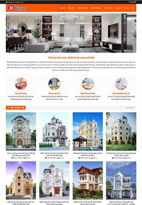 Mẫu website công ty thiết kế nội thất 2