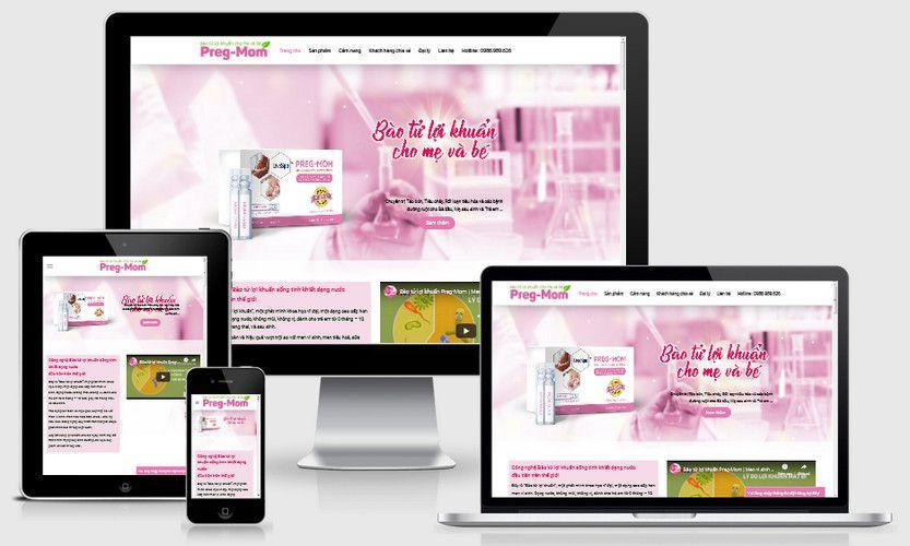 Mẫu website bán thực phẩm bổ sung