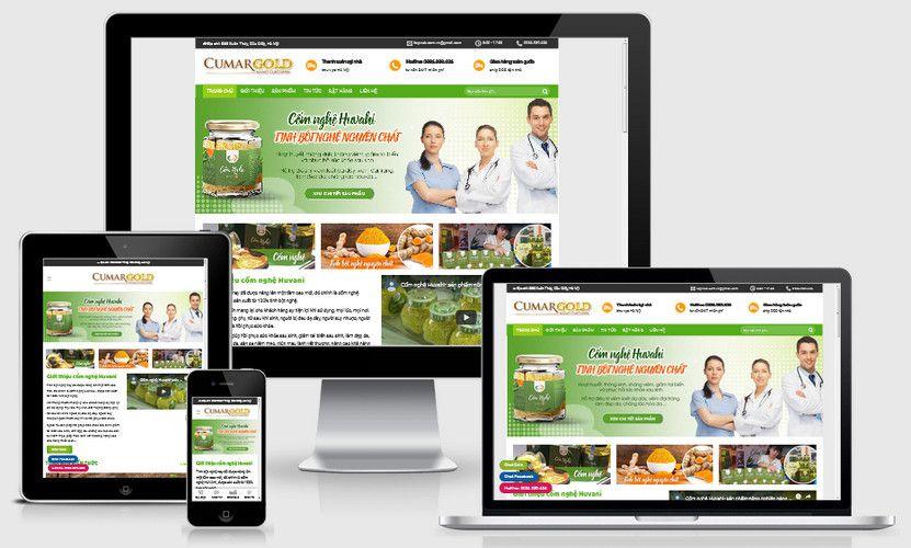 Mẫu website bán tinh bột nghệ