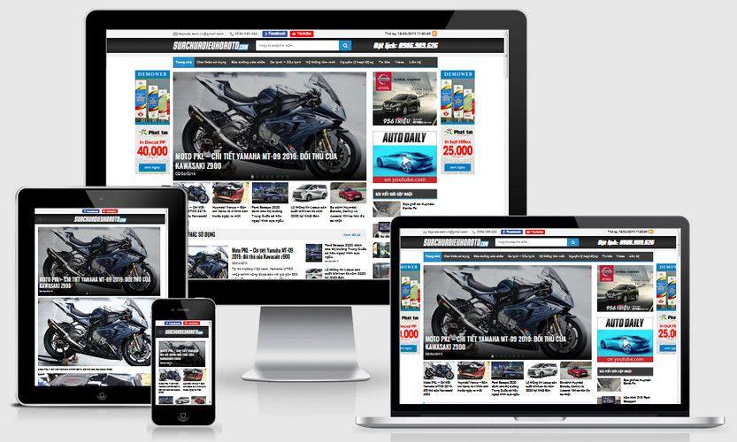 Mẫu website tin tức ô tô xe hơi