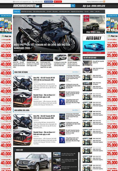Mẫu website tin tức ô tô xe hơi 2