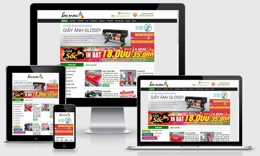 Mẫu website in ấn thiết kế biển bạt
