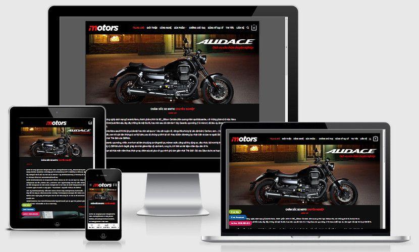 Mẫu website bảo dưỡng moto xe máy