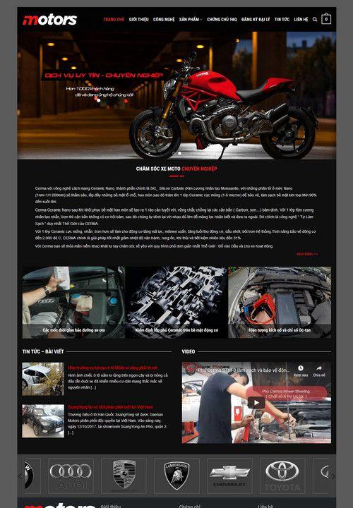 Mẫu website bảo dưỡng moto xe máy 3