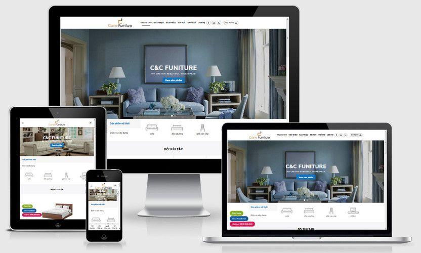 Mẫu website nội thất gia đình
