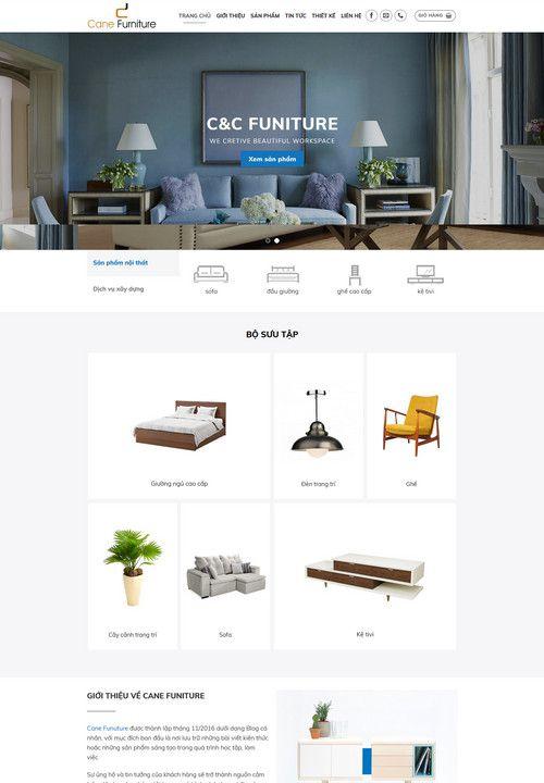 Mẫu website nội thất gia đình 3