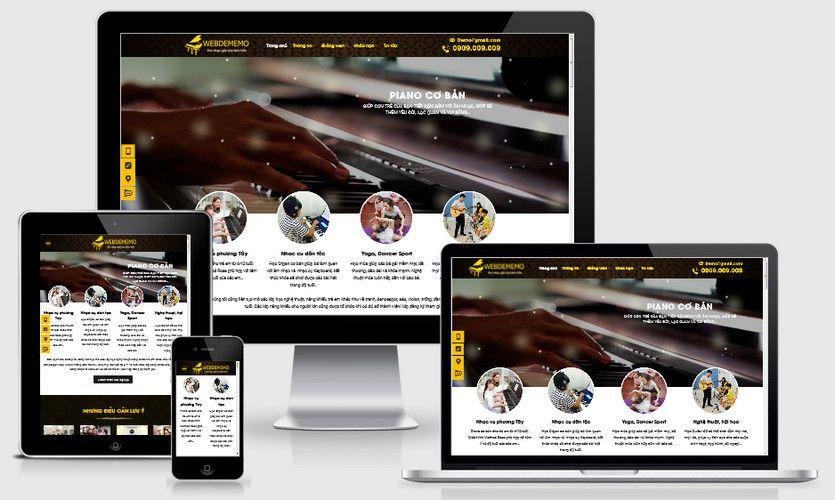 Mẫu website trung tâm dạy Piano