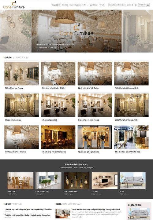 Mẫu website thiết kế thi công nội thất 3