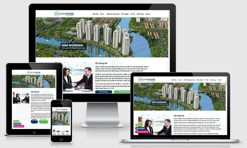 Mẫu website công ty bất động sản