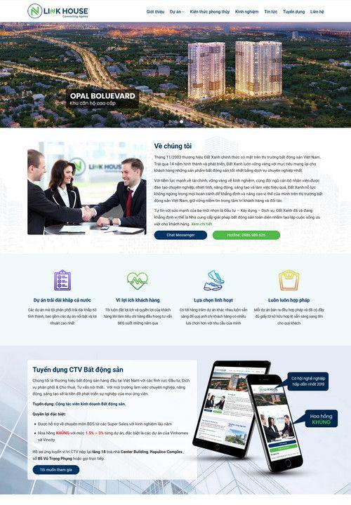 Mẫu website công ty bất động sản 1