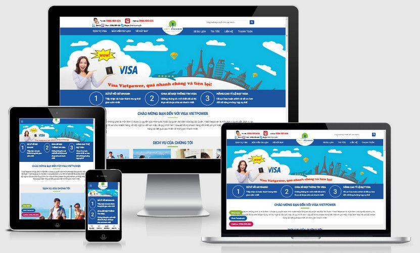 Mẫu website dịch vụ visa chuyên nghiệp