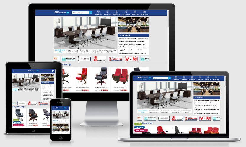 Mẫu website bán nội thất ghế văn phòng