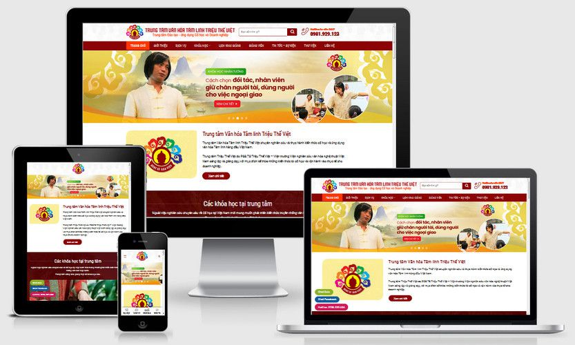 Mẫu website khóa học Phong thủy