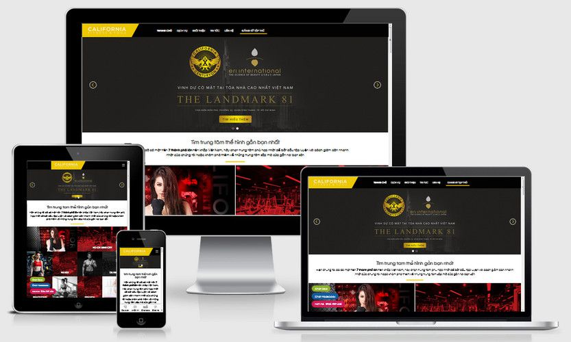 Mẫu website phòng tập GYM