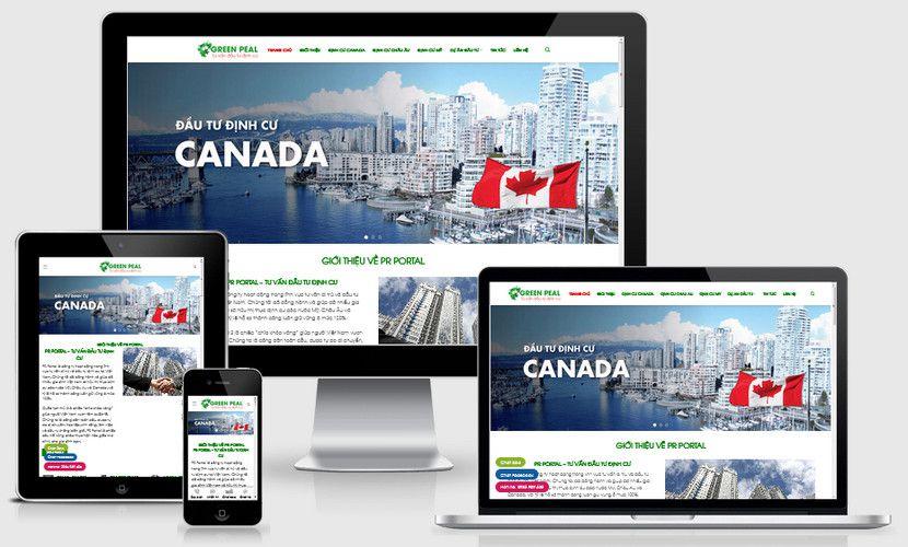 Mẫu website Đầu tư định cư Anh Mỹ
