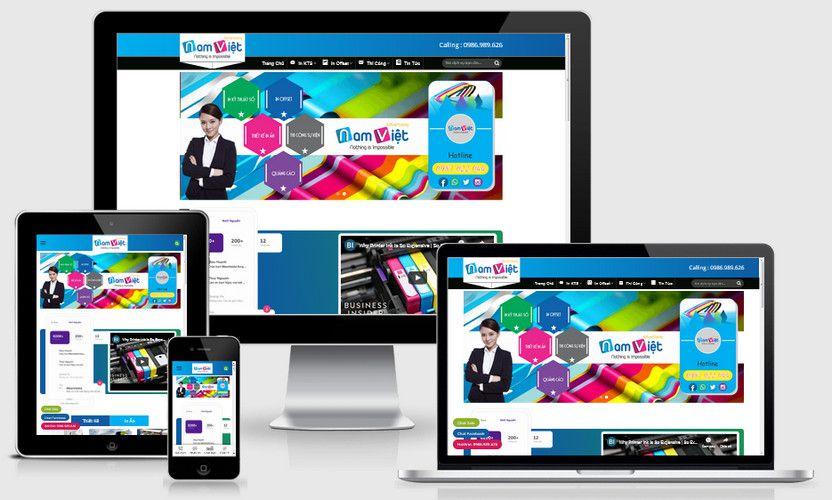 Mẫu website In ấn thiết kế Tp.HCM