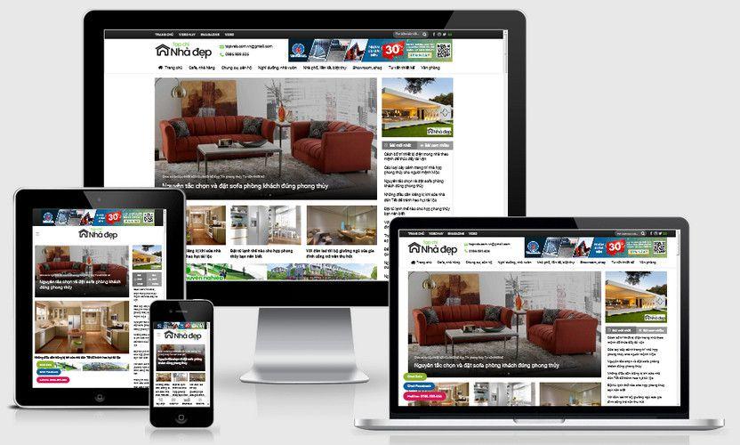 Mẫu website Tạp chí nhà đẹp