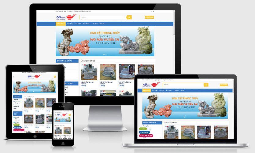 Mẫu website bia đá lăng mộ đá