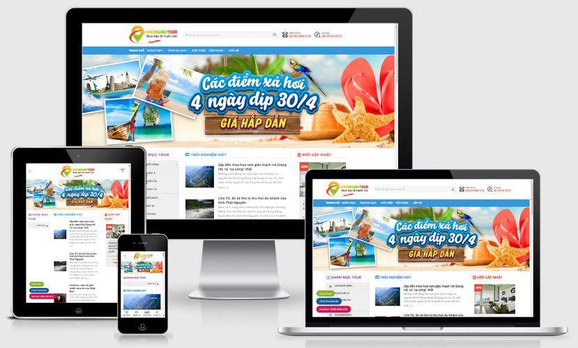 Mẫu website tour du lịch trải nghiệm