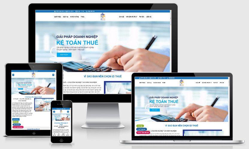Mẫu website kế toán thuế đẹp