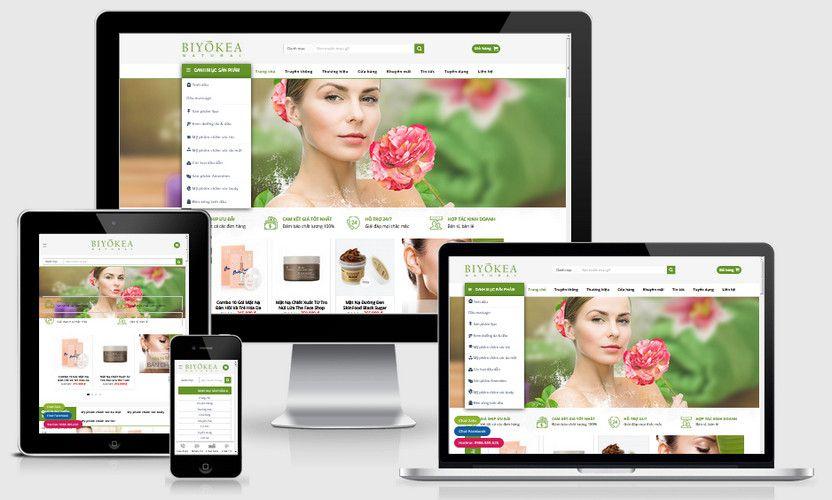 Mẫu website mỹ phẩm thiên nhiên