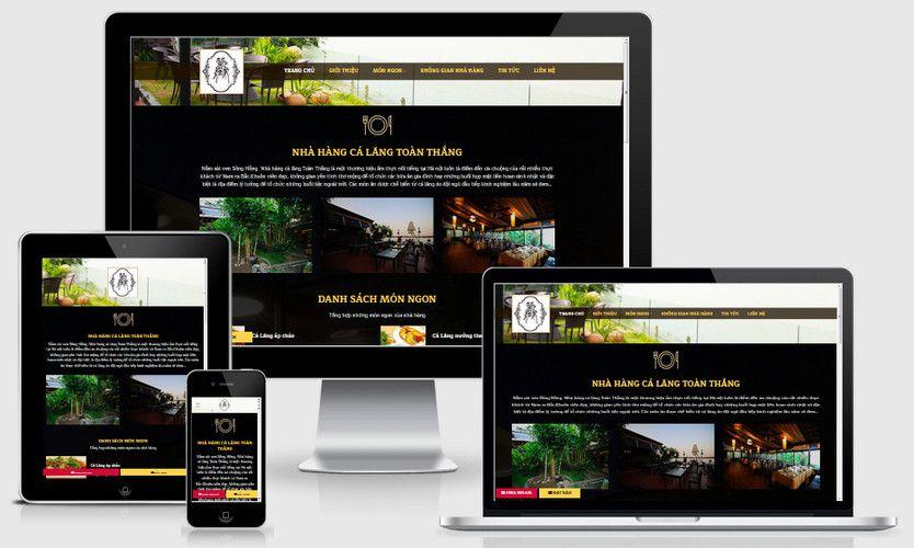 Mẫu website nhà hàng cá lăng đẹp