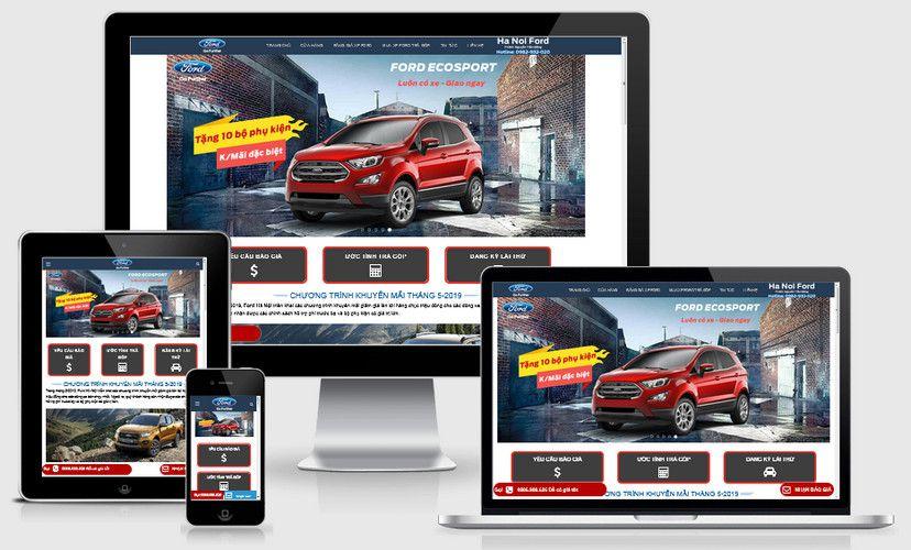Mẫu website ô tô Ford Thăng Long