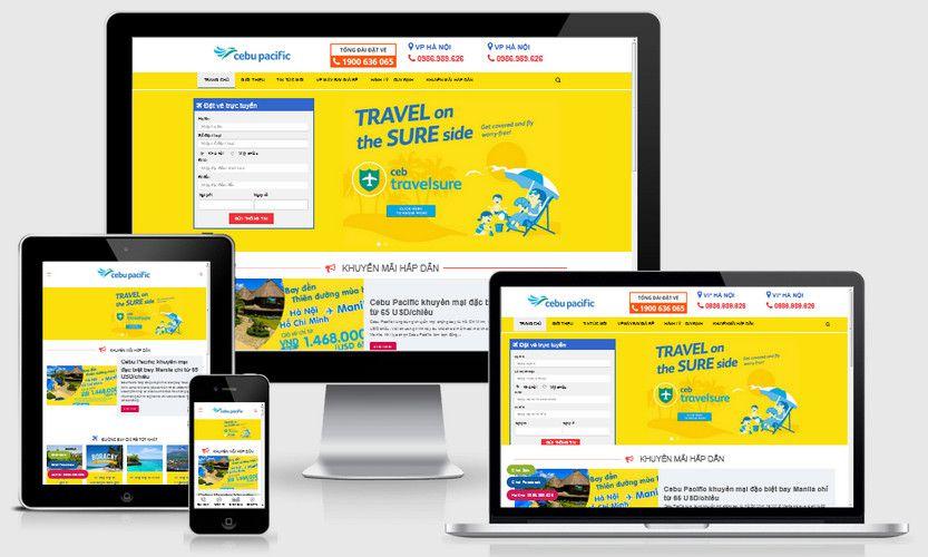 Mẫu website đặt vé máy bay giá rẻ